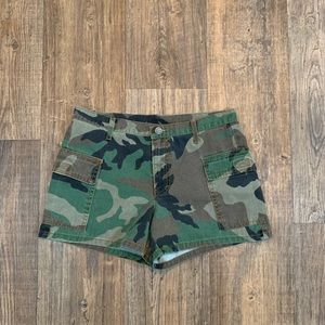 Physco Blue Outlaw Camo Shorts Size 7